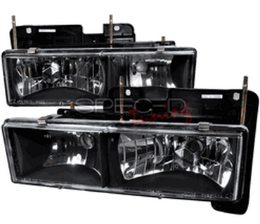 1988 to 98 Chevy / GMC Euro Clear Headlights